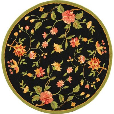 Isabella Floral Area Rug Rug Size: Round 8'