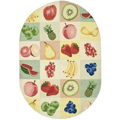 Kinchen Fruit Novelty Area Rug Rug Size: Oval 76 x 96