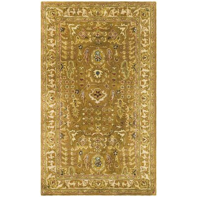 Classic Beige/Gold Tree of Life Rug Rug Size: 3' x 5'