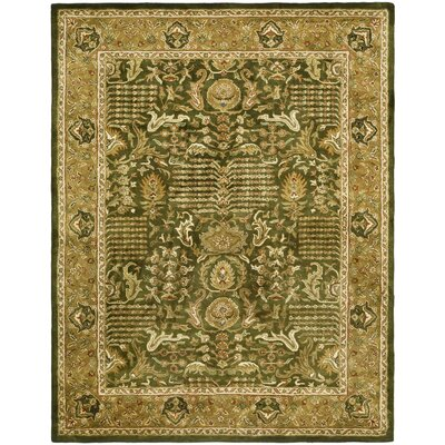 Classic Green/Gold Tree of Life Rug Rug Size: 5' x 8'