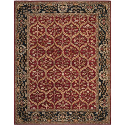 Anatolia Red Area Rug Rug Size: Rectangle 96 x 136