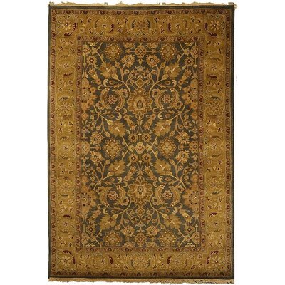 Dynasty Gold Area Rug Rug Size: Rectangle 6 x 9
