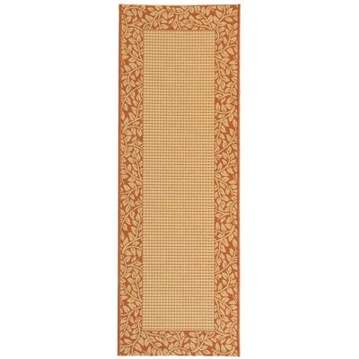 Barhill Natural/Terra Outdoor Rug Rug Size: Runner 24 x 14