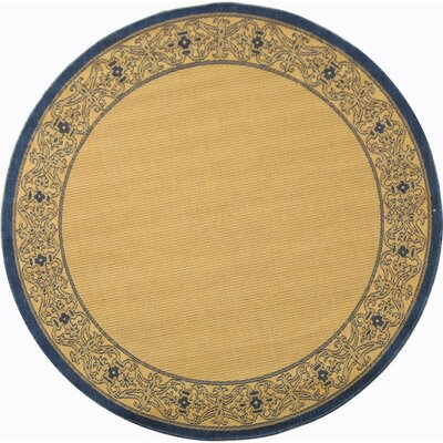 Courtyard Natural Outdoor Area Rug Rug Size: Round 5'3