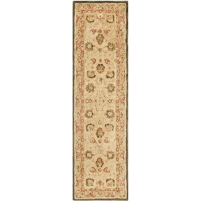 Anatolia Hand-Woven Wool Brown Area Rug Rug Size: Runner 23 x 16