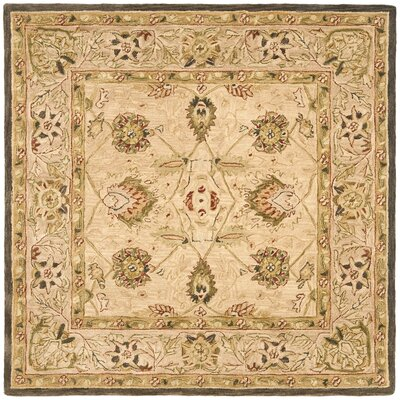 Anatolia Hand-Woven Wool Brown Area Rug Rug Size: Square 6