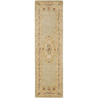 Bergama Light Green/Beige Area Rug Rug Size: Runner 23 x 8