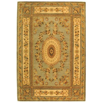 Bergama Light Blue/Ivory Area Rug Rug Size: Rectangle 3 x 5