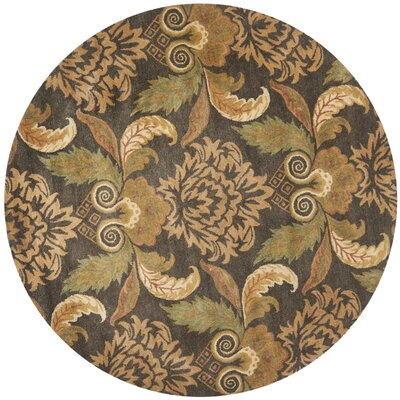Metro Floral Rug Rug Size: Round 6