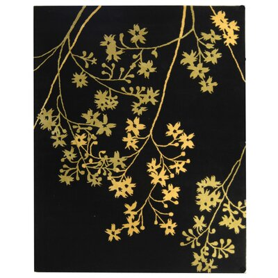 Soho Black Area Rug Rug Size: Rectangle 36 x 56