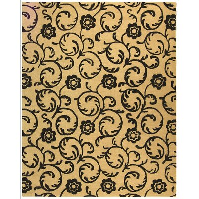 Alvan Hand-Tufted Beige / Black Area Rug Rug Size: Rectangle 5 x 8