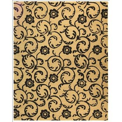 Alvan Hand-Tufted Beige / Black Area Rug Rug Size: Rectangle 83 x 11
