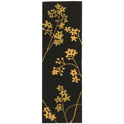 Soho Black Area Rug Rug Size: Runner 26 x 12