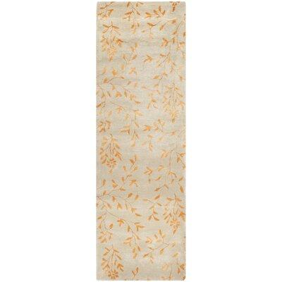 Alvan Hand-Tufted Beige/Orange Area Rug Rug Size: Runner 26 x 12
