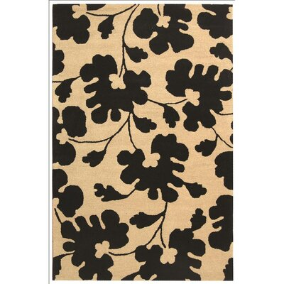 Soho Beige/Black Area Rug Rug Size: Rectangle 76 x 96