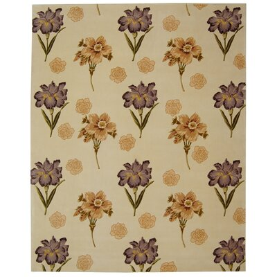 Mandarin Beige/Natural Area Rug Rug Size: Rectangle 8 x 10