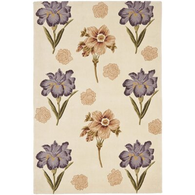 Mandarin Beige/Natural Area Rug Rug Size: Rectangle 5 x 8