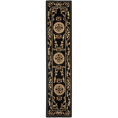 Naples Black Area Rug Rug Size: Runner 23 x 12