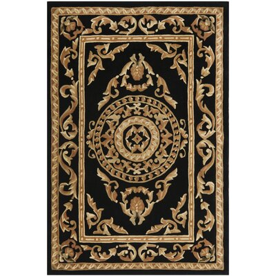 Naples Black Area Rug Rug Size: 8 x 11