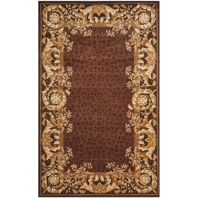 Naples Assorted Brown Area Rug Rug Size: 4 x 6