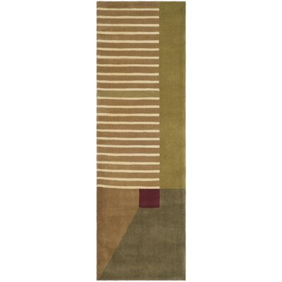 Rodeo Drive Trio Beige/Gold Area Rug Rug Size: Runner 26 x 8