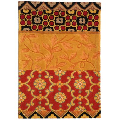 Rachelle Drive Collage Rust/Gold Area Rug