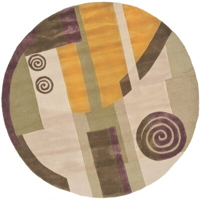 Rodeo Drive Beige Area Rug Rug Size: Round 8