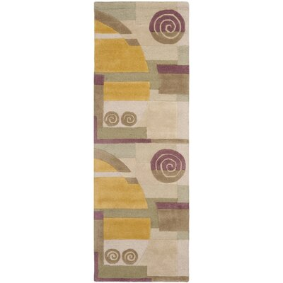Rodeo Drive Beige Area Rug Rug Size: Runner 26 x 14