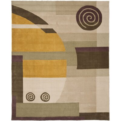 Rodeo Drive Beige Area Rug Rug Size: Rectangle 76 x 96