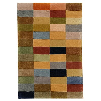 Rodeo Drive Hand-Tufted Beige/Gray Area Rug Rug Size: Rectangle 76 x 96