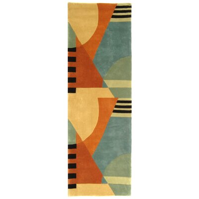 Rodeo Drive Gold Area Rug Rug Size: Runner 2'6
