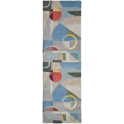 Rodeo Drive Blue Area Rug Rug Size: Runner 2'6