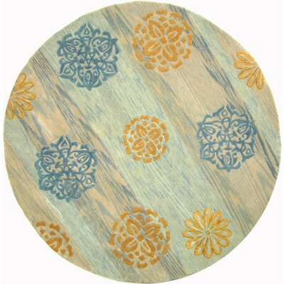 Rodeo Drive Blue Area Rug Rug Size: Round 8