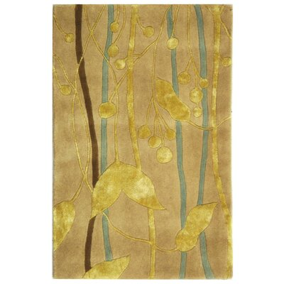 Rodeo Drive Ivory/Gold Area Rug Rug Size: Rectangle 76 x 96