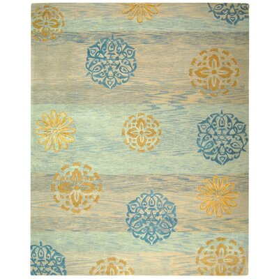Rodeo Drive Blue Area Rug Rug Size: 76 x 96