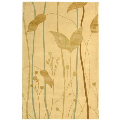 Rodeo Drive Ivory/Gold Area Rug Rug Size: 5 x 8