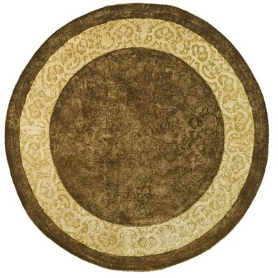 Silk Road Chocolate/Light Gold Area Rug Rug Size: Round 6