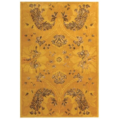 Silk Road Gold Area Rug Rug Size: 76 x 96