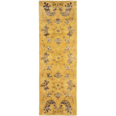 Silk Road Gold Area Rug Rug Size: Runner 26 x 8