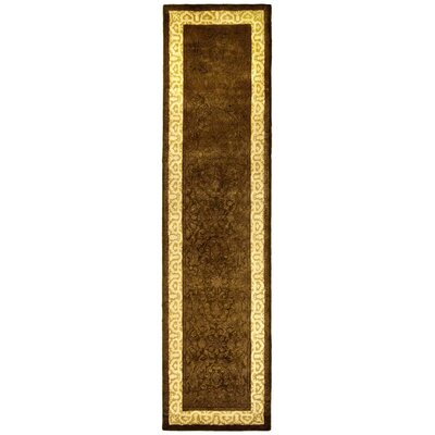Silk Road Chocolate/Light Gold Area Rug Rug Size: Runner 26 x 12