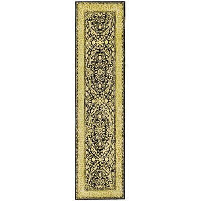 Silk Road Black/Ivory Area Rug Rug Size: Runner 26 x 8