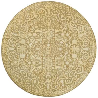 Silk Road Ivory Area Rug Rug Size: Round 8