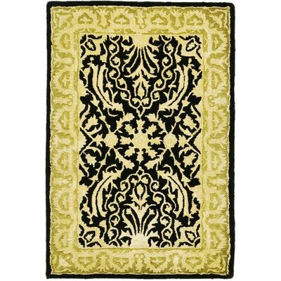 Silk Road Black/Ivory Area Rug Rug Size: 2 x 3