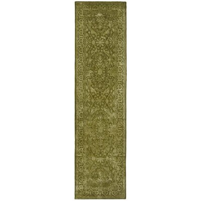 Silk Road Sage Area Rug Rug Size: Runner 26 x 10
