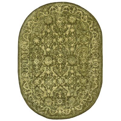 Silk Road Sage Area Rug Rug Size: Oval 4'6