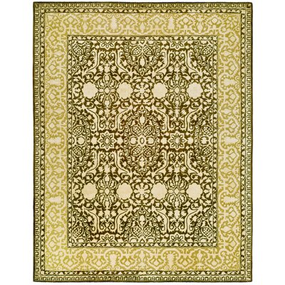 Silk Road Brown/Ivory Area Rug Rug Size: 76 x 96