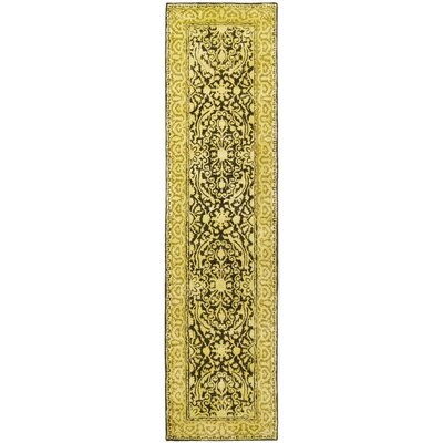 Silk Road Brown/Ivory Area Rug Rug Size: Runner 26 x 12
