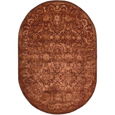 Silk Road Rust Area Rug Rug Size: Oval 46 x 66