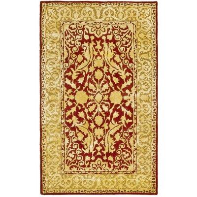 Sik Road Maroom/Ivory Area Rug Rug Size: 83 x 11