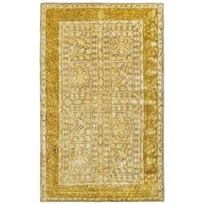 Silk Road Beige/Light Gold Area Rug Rug Size: 26 x 4
